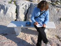 Jane sketches some architectural details