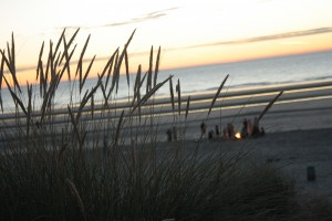 One of our last gathering times on the beach by our campground in Belgium.