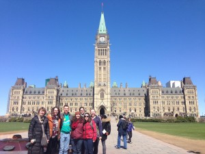 Visiting Parliament Hill!